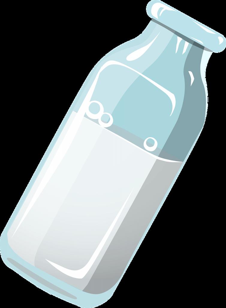 fľaša mlieka